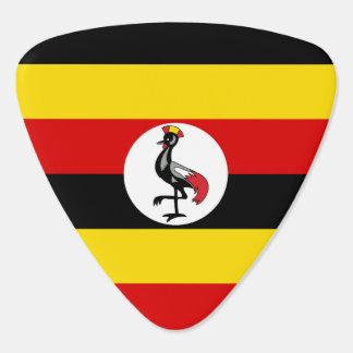 Uganda-Flagge Plektron