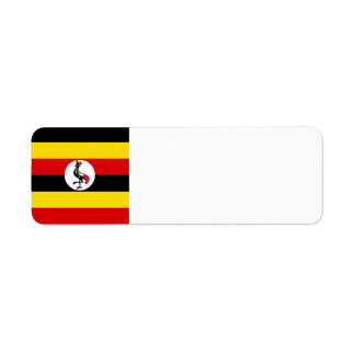 Uganda-Flagge Rücksendeetiketten