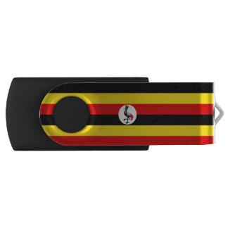 Uganda-Flagge Swivel USB Stick 2.0