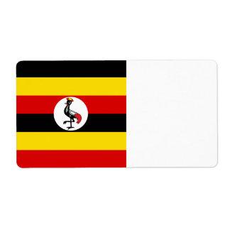 Uganda-Flagge Versandetiketten