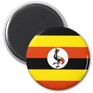 Uganda Runder Magnet 5,7 Cm