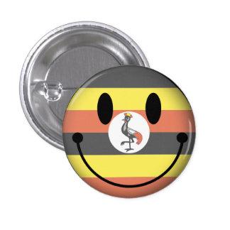 Uganda-smiley Runder Button 2,5 Cm