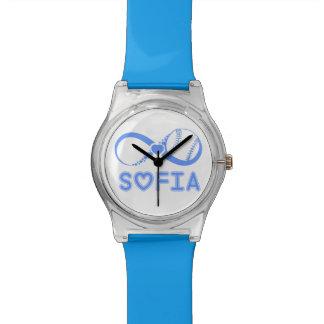 Uhr Auf die Person stimmt Beisbolero Blau