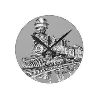 Uhr: Baldwin 1880 Runde Wanduhr