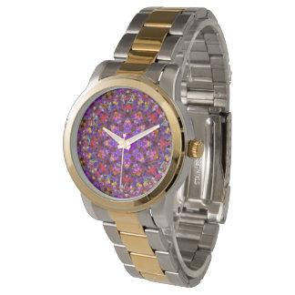 Uhr der Fliesen-Art-Muster-die Vintage Frauen