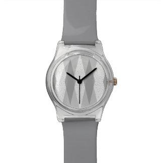 Uhr der Mitte- des Jahrhundertsmoderne graue