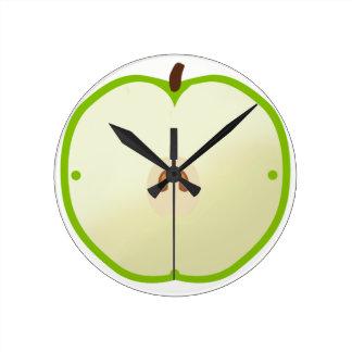 Uhr des grünen Apfels