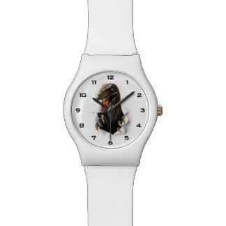 Uhr des Velociraptor-Dinosaurier-May28th