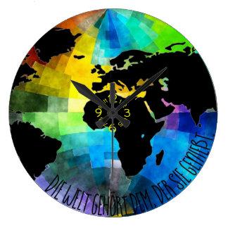 """Uhr """"Die Welt gehört dem, der sie genießt."""""""