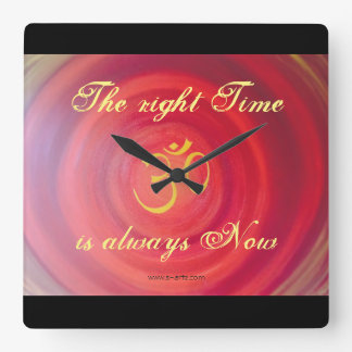 """Uhr """"The right time-OM"""""""