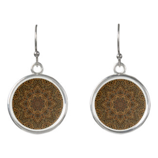 Uhrwerk-Vintage Kaleidoskop-   Tropfen-Ohrringe Ohrringe