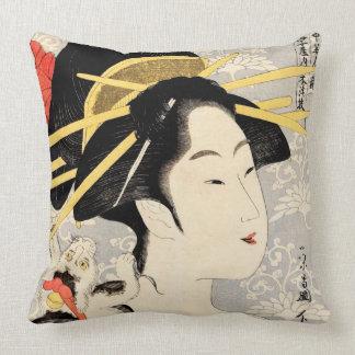 Ukiyo-e Geisha Kissen