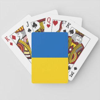 Ukraine-Flagge Spielkarten
