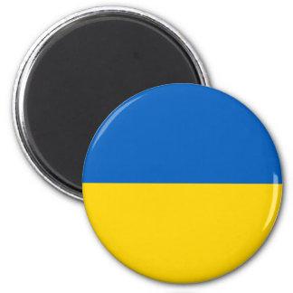 Ukraine-Flaggen-Magnet Runder Magnet 5,1 Cm