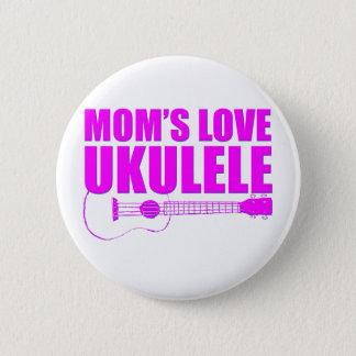 ukulele der Mutter Tages Runder Button 5,1 Cm