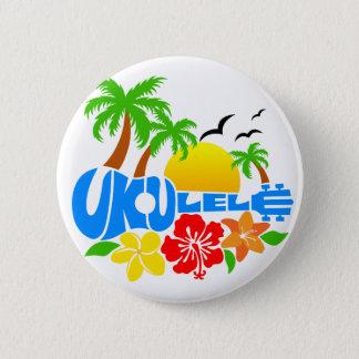 Ukulele-Insel-Logo Runder Button 5,7 Cm