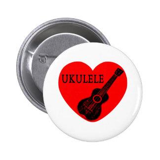 Ukulele-Liebe Runder Button 5,1 Cm