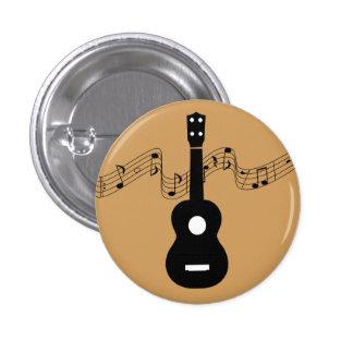 Ukulele mit Musiknoten Runder Button 2,5 Cm