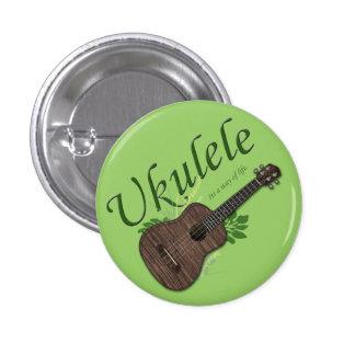 Ukulele-Sein eine Lebensart kleinen Knopf 2 Runder Button 2,5 Cm
