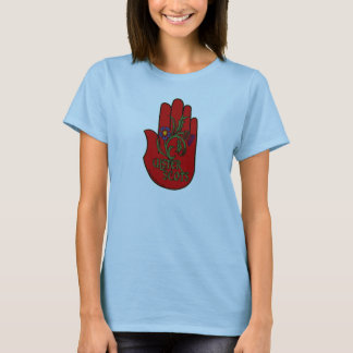 Ulster-Schotten (Schotte-Irische) rote Hand T-Shirt