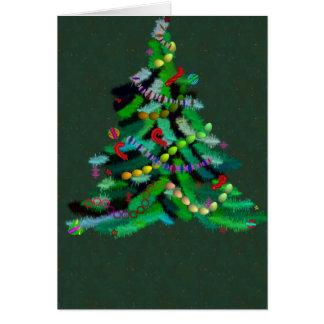 Ultra grüne Weihnachtsbaumkarte Karte