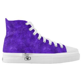 Ultraviolette hohe Spitzenturnschuhe Hoch-geschnittene Sneaker