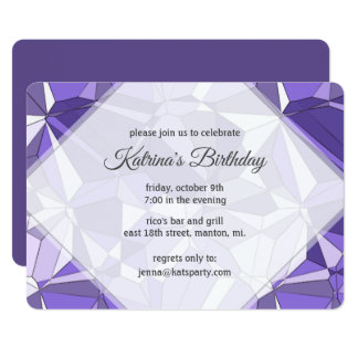 Ultraviolette Prisma-Muster-Party Einladung