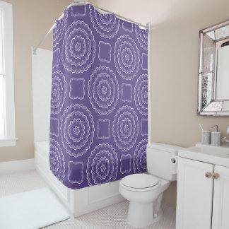 Ultravioletter Mandala-Muster-Druck-Duschvorhang Duschvorhang