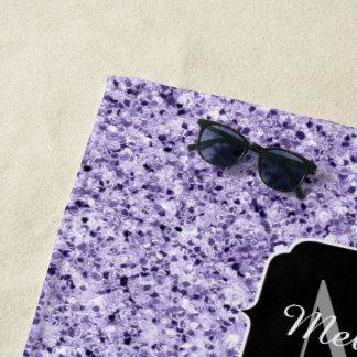 Ultraviolettes hellpurpurnes Glitterschein Strandtuch
