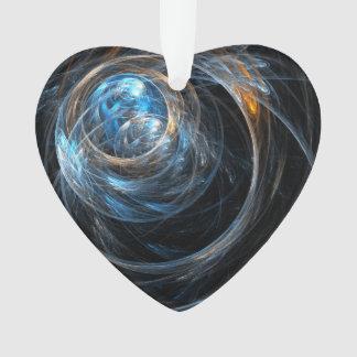 Um das Weltabstrakte Kunst-Acryl-Herz Ornament