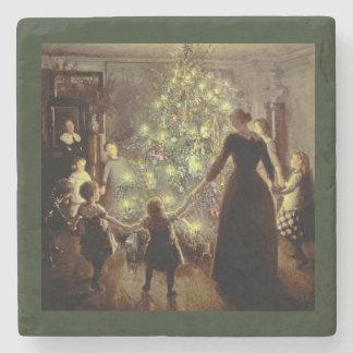 Um den Weihnachtsbaum Steinuntersetzer