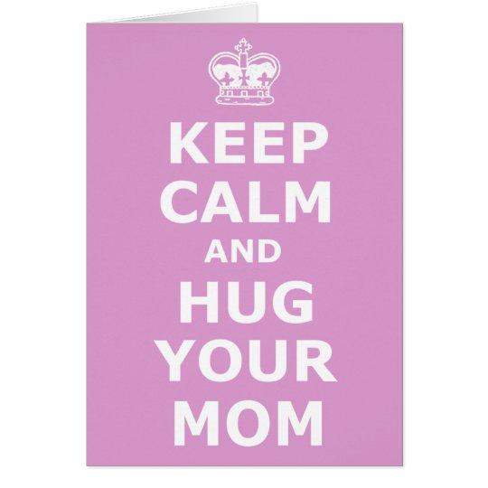 Umarmen Sie den Ihren Tag der Mammamutter Grußkarte