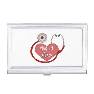 Umarmen Sie eine Krankenschwester Visitenkarten Etui