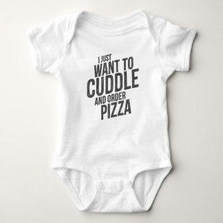 Umarmung und Pizza Baby Strampler