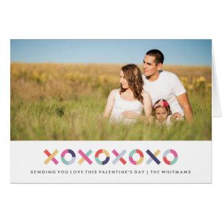 Umarmungen + Kuss-Valentinstag-Karte - Pulver Karte
