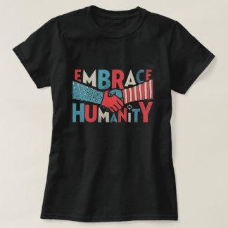 Umarmungs-Einheits-patriotische T-Shirt