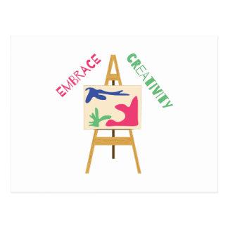 Umarmungs-Kreativität Postkarte