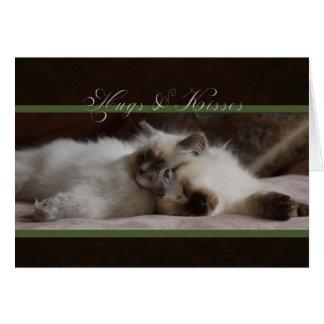 Umarmungs-und Kuss-Valentinsgruß-Karte Grußkarte