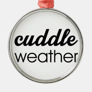 Umarmungs-Wetter Silbernes Ornament