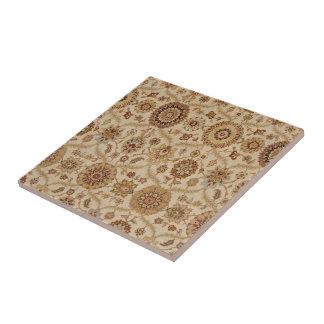 Umber-Tawny persischer Tapisserie-mit Kleine Quadratische Fliese