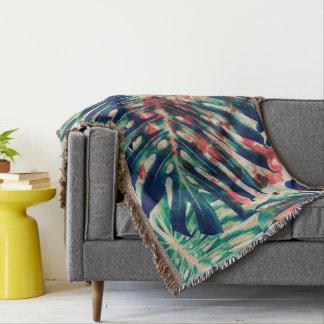 Umfassender Blattdruck des Wurfs Decke
