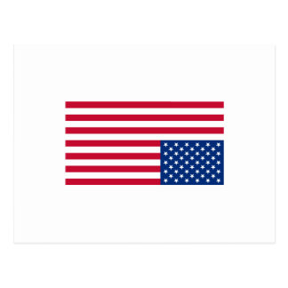 Umgedrehte Flagge Postkarte