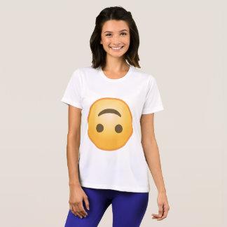 Umgedrehtes Lächeln Emoji T-Shirt