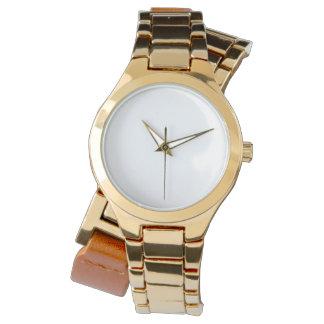 Umgriffsuhr der Frauen gold Uhren