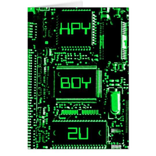"""Umkreisen Sie Geburtstagskarte des Grüns """"HPY BDY Grußkarte"""