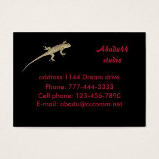 ummauern Sie Eidechse, Abadu44studio, adressieren Visitenkarte