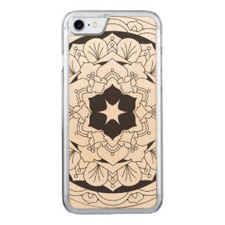 Umrissene BlumenMandala 060517_4 Carved iPhone 7 Hülle