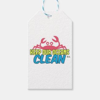 Umwelt behält unseren Ozean-sauberen Slogan Geschenkanhänger