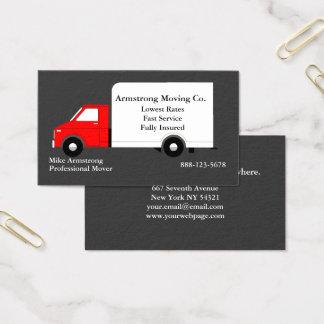 Umzugsunternehmen-beweglicher LKW-Urheber Visitenkarte