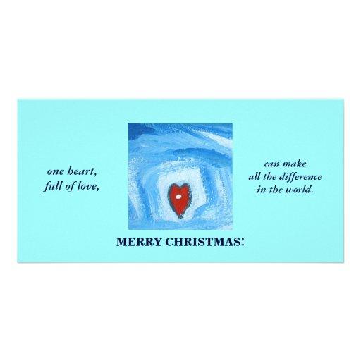 UN HEART/CHRISTMAS PHOTOCARTE CUSTOMISÉE